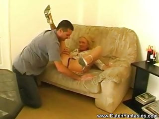 Retro milf Blonde dutch retro milf fuckrough sex is in store for this b