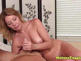 Tattoo below bikini line - Bikini milf tugging cock while rubbing pussy