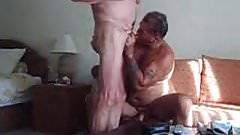 Older men playing each other's cock
