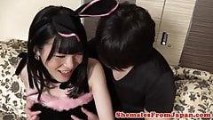Japanese tgirl assfucked reversecowgirl