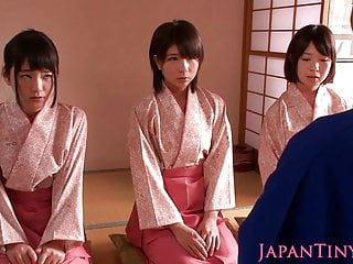Kimono condom sizes Petite femdom japanese kimono babes jump on dude