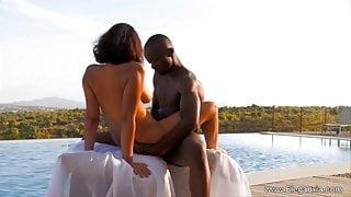Ebony Couple Make Love Outdoors