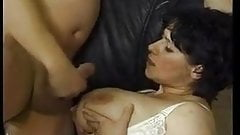 Busty mature barmaid with natural tits gets fucked and fisted