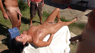HAIRY GERMAN MILF LICKED, FUCKED AND FULLY CUMMED