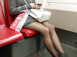 Teen shot subway - Candid subway pantyhoses