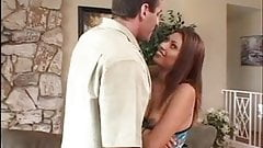 Perfect perky breasted brunette sucks on Lee Stone's huge dick before fucking