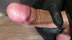 Lubed handjob with cumshot