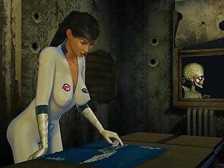 Cartoon woman boobs Alien fucks scientists woman