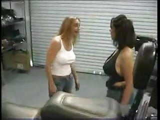 Wild naked biker chick Biker chick catfight