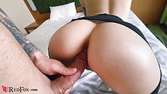 Teen in Pantyhose Eating Pussy, Doggystyle Fuck and Suck Coc