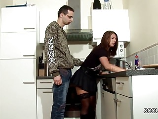 Cum on clothesd - Step-son seduce milf mom to fuck and cum on stockings