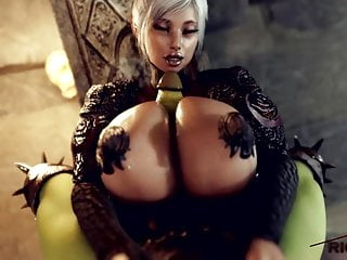 Hentai princess toadstoll Futa elf princess titfuck by orc monster