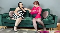 BBW lesbians playing with each other