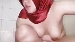Indonesian Hijab Girl Masturbating 09 - Cucumber Playing