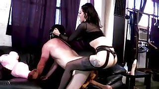 3 stages of hell femdom strapon compilation