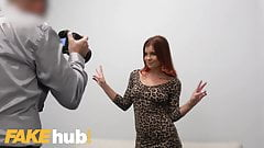 Fake Agent Nipple pierced redhead Russian Renata Fox fucked