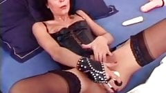 Multiple dildo french mature slut