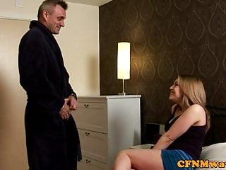 Femdom cfnm free video - Sexy femdom cfnm babes wank dude off