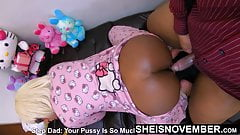 Black Stepdaughter Msnovember Riding & Doggystyle With Dad
