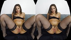 Your hot Latina rucca Abella fools around with a fake cock