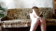 Young Skinny Teen Girl Play Solo Dildo Anal Webcam