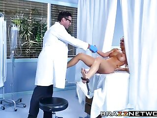 Liquid filled boob adult novelty Horny big boobs milf getting filled up with doctors fat dick