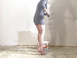 How to strip paint off cement walls Sexy wall painting heels...