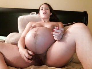 Nine months pregnant porn