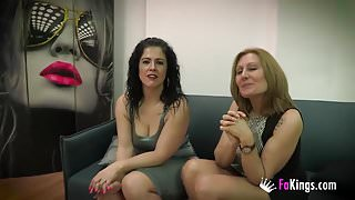 Nuria and Montse's threesome with Julian's cock