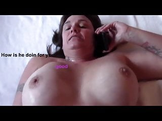 Wife fuck on phone hubby Wife fucked speaks to cuckold husband on phone