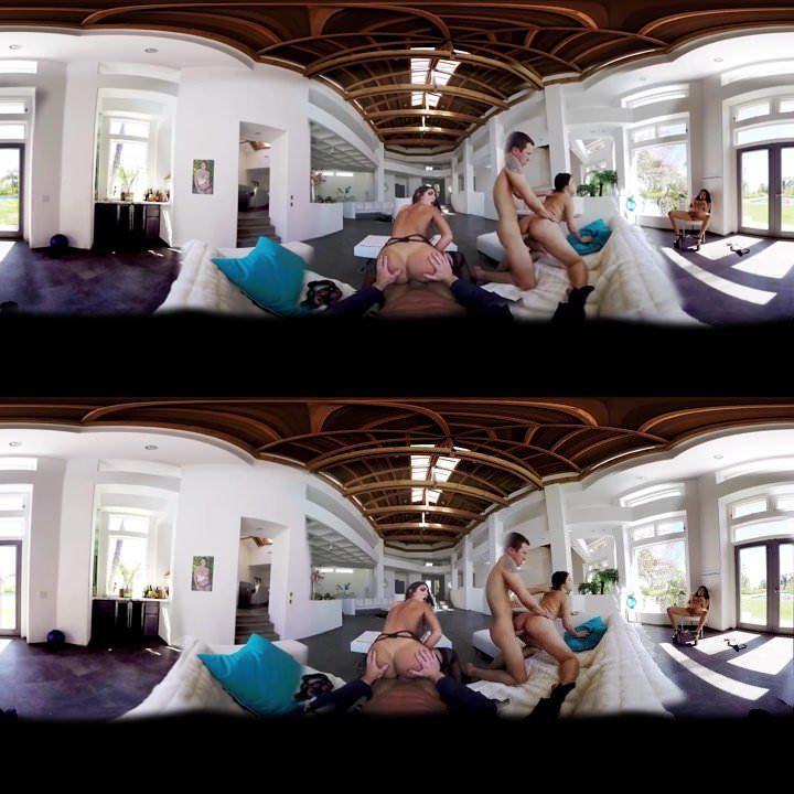Hot Brunette Virtual Reality