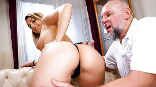 GrandpasFuckTeens Cute Babe Teases Grandpa With Her Outfit