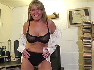 Free office sex full screan Full back knickers office chair strip