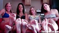 Four Girl Foot Fetish Heaven