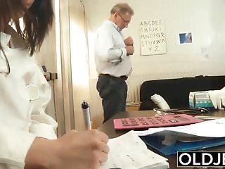 Grandpa on grandpa sex Old and young nurse turns checkup into sex and fucks grandpa
