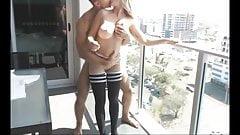 Daring Couple Fucks on their Apartment's Terrace