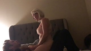 Blonde MILF wants neighbor's dick
