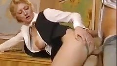 FA Horny Schoolmistress Gives Him A Practical Lesson !