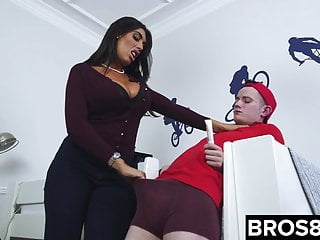 Pissed off mistress - Pissed off milf fucks her stepson as punishment