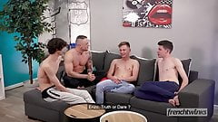 A very hot fourway between french twinks star models