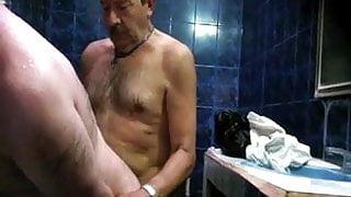 Hot Step Daddie in Sauna