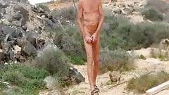 Henndrik nackt Outdoor Steif Schwanz und Pisst Fuerteventura