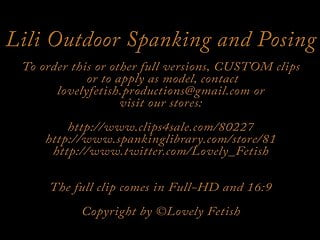 Teen opportunity sales club dc Clip 11lil lili outdoor spanking and posing -mix - sale: 18