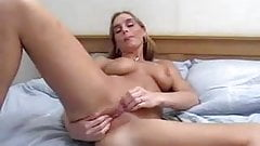 Dutch girl double dildo cumming hard