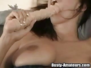 Gianna sex clips Solo busty gianna is using a huge toy