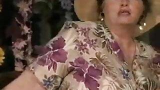 Fat grandma stripping