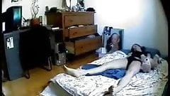 Hidden cam in bedroom of my girlfriend caught her masturbating