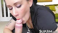 Classy woman fulfills all fantasies to nasty senior man