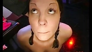 Brunette Anna cum drenched and loving it