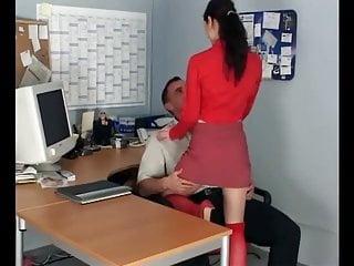Perky boobs knee high stockings Petite secretary fucking in knee high stockings